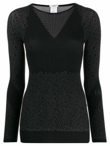Wolford Cheetah-print sweater - Grey