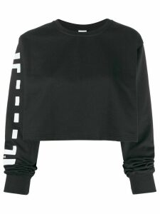 Wolford Logo cropped sweater - Black