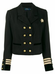 Polo Ralph Lauren officer style cropped blazer - Black