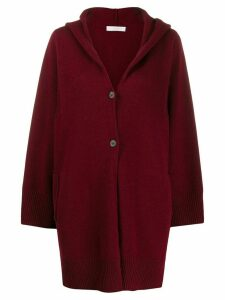 Fabiana Filippi hooded cardigan - Red
