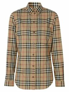 Burberry Vintage Check button-down shirt - Brown