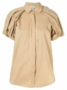 Lee Mathews Elsie puff sleeve shirt - Brown