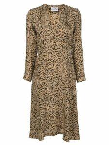 HVN Hoover silk dress - Brown
