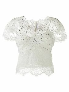 Ermanno Scervino stud-embellished lace blouse - White