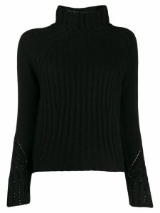 Ermanno Scervino perforated details jumper - Black