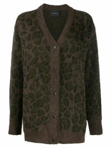 John Richmond animal-pattern cardigan - Brown