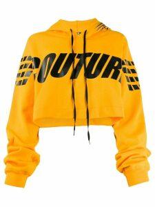 Mia-iam cropped hooded sweatshirt - Yellow
