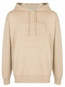 Opening Ceremony embossed box logo hoodie - NEUTRALS