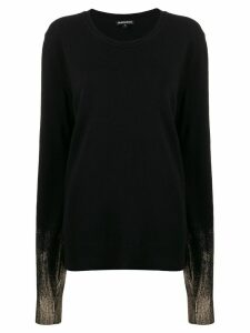 Ann Demeulemeester contrast long-sleeve sweater - Black