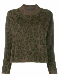 John Richmond Mizda leopard intarsia jumper - Brown