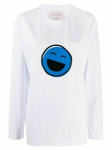Natasha Zinko Smiles print long-sleeved T-shirt - White