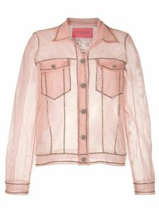 Viktor & Rolf transparent denim jacket - PINK