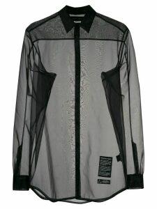 Odeur sheer logo patch shirt - Black