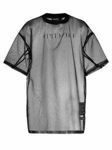 Odeur Concept print sheer T-shirt - Black