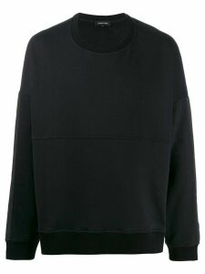 Odeur boxy fit contrast panel sweatshirt - Black