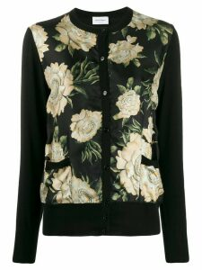 Salvatore Ferragamo floral print cardigan - Black