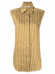CAMILLA AND MARC Zion striped shirt - Brown