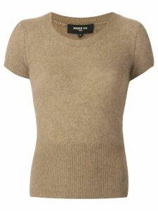 Paule Ka ribbed knit top - Brown