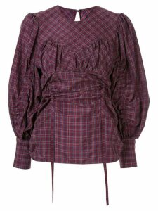 Muller Of Yoshiokubo Médina check blouse - PURPLE