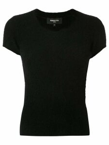 Paule Ka ribbed knit rob - Black