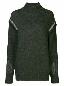 Muller Of Yoshiokubo turtle-neck fitted sweater - Grey