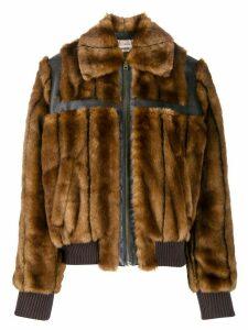 Zadig & Voltaire Lotta faux fur jacket - Brown