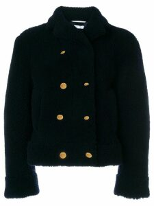 Thom Browne Dyed Shearling Sport Coat - Blue