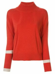 Lorena Antoniazzi contrast-trim roll-neck sweater - Red