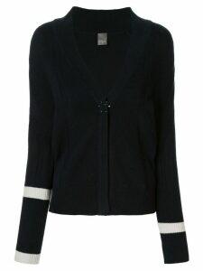 Lorena Antoniazzi contrast-trim cardigan - Blue