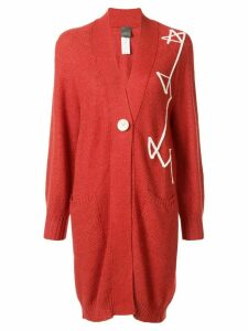 Lorena Antoniazzi embroidered oversized cardigan - ORANGE