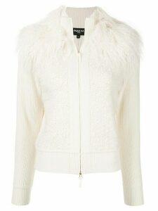 Paule Ka zipped wool cardigan - White