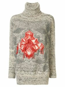 Lorena Antoniazzi oversized intarsia sweater - Grey