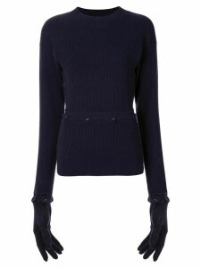 Christopher Esber Deconstruct glove-detail jumper - Blue