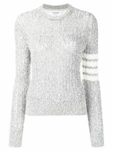 Thom Browne 4-Bar Open Stitch Pullover - Grey