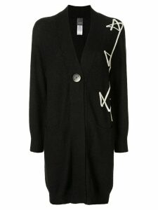Lorena Antoniazzi embroidered oversized cardigan - Black