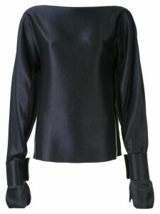 Christopher Esber Ilona long-sleeved blouse - Blue