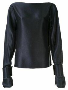Christopher Esber Ilona long-sleeved blouse - Blue