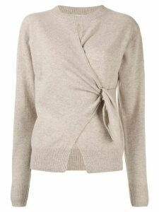 Christopher Esber draped fitted jumper - NEUTRALS