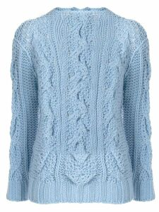 Ermanno Scervino chunky cable-knit sweater - Blue
