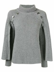 Paule Ka cape detail jumper - Grey