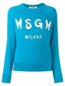 MSGM logo print sweatshirt - Blue