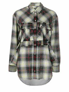 Diesel embellished checked shirt - Black