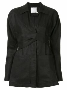 Christopher Esber waist-tied jacket - Black