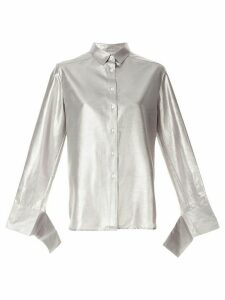 Christopher Esber oversized long-sleeve shirt - SILVER