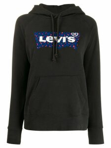 Levi's leopard-print logo hoodie - Black