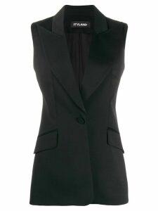 Styland tailored midi waistcoat - Black