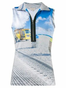 Natasha Zinko fitted beach trash top - Blue