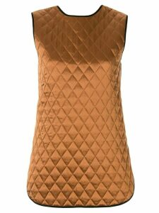 Lee Mathews quilted sleeveless top - Black