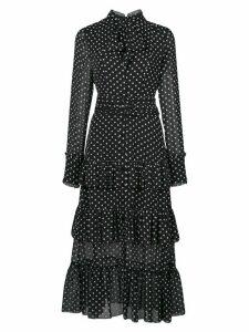 Alexis Pandora polka dot print dress - Black