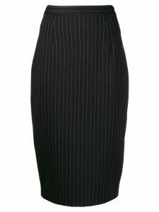 Styland striped pencil skirt - Black